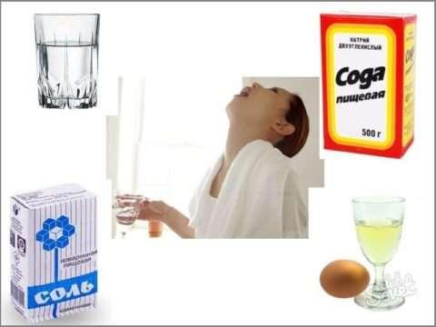 Раствор соды для горла