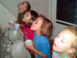 Полоскания глотки при язвах