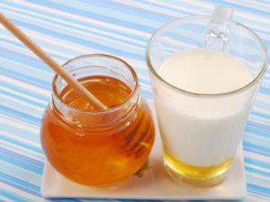 лечение сухого кашля молоком и медом